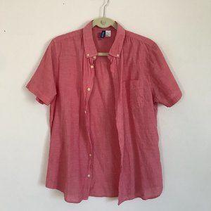H&M Short Sleeve Button-up Shirt - Pink